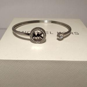 Michael Kors Silver Tone Flex Bracelet